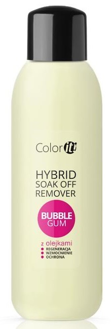 Silcare Soak Off Remover z olejkami Bubble Gum do usuwania hybryd 1000ml