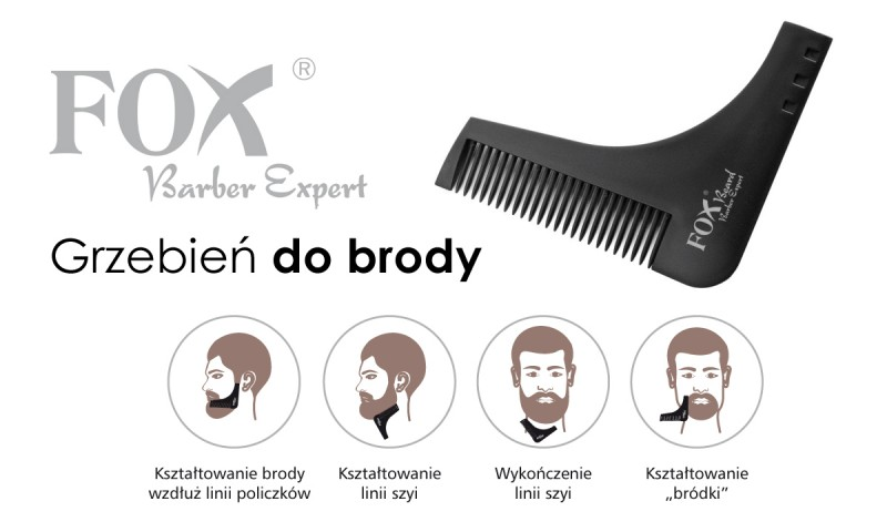 FOX Barber Expert Beard grzebień do brody