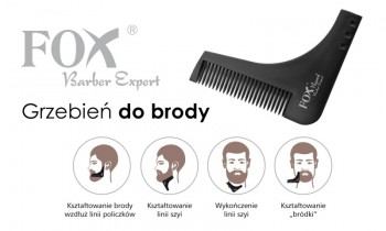 FOX Barber Expert grzebień do brody