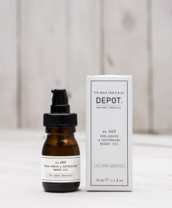 DEPOT No.403 PRE-SHAVE&SOFTENING BEARD OIL Fresh Black Pepper olejek zmiękczający do brody 30ml
