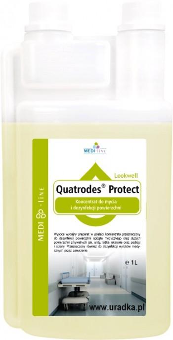 Quatrodes Protect Koncentrat domycia idezynfekcji powierzchni 1000ml również dosolarium.