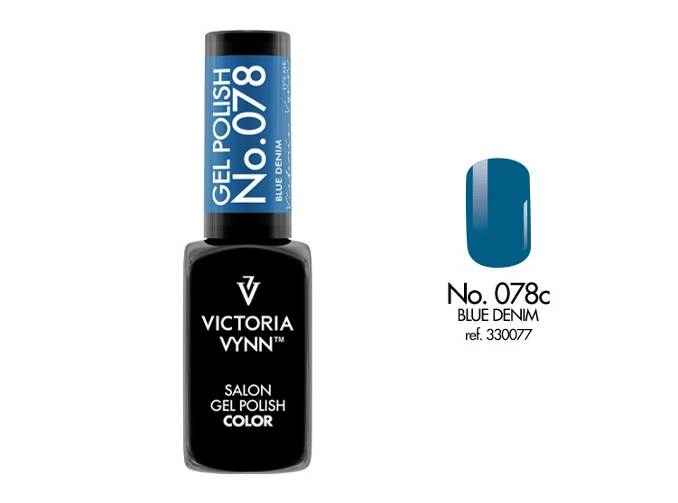 VICTORIA VYNN Gel Polish lakier hybrydowy 078 Blue Denim 8ml