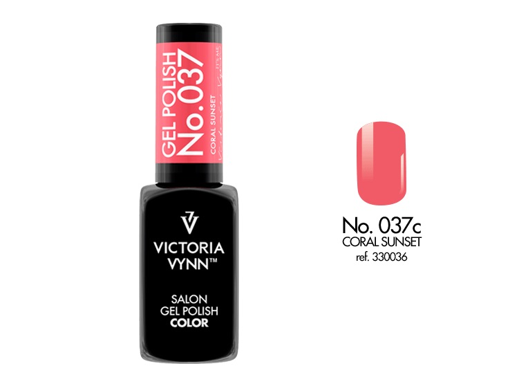 VICTORIA VYNN Gel Polish lakier hybrydowy 037 Coral Sunset 8ml