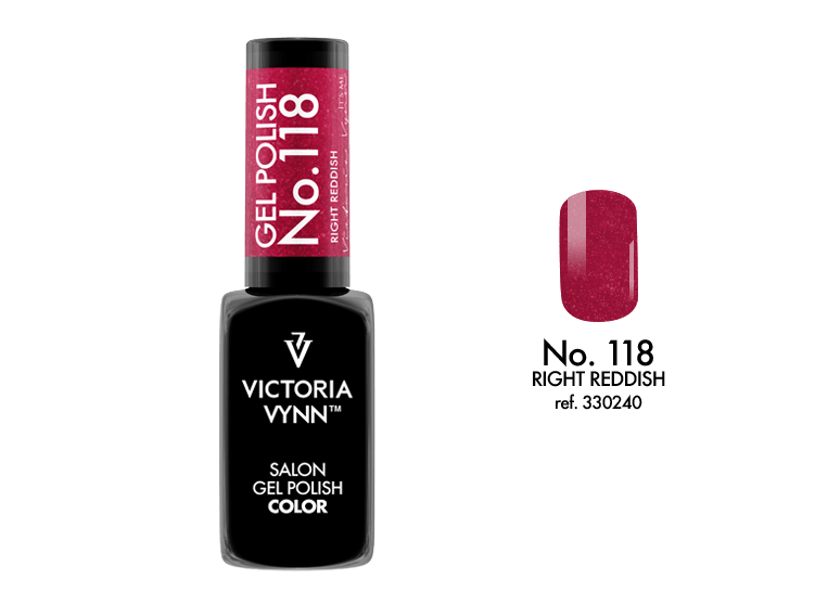 VICTORIA VYNN Gel Polish lakier hybrydowy 118 Right Reddish 8ml