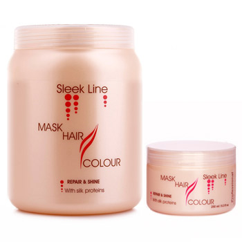 Stapiz sleek line maska z jedwabiem Color 250ml