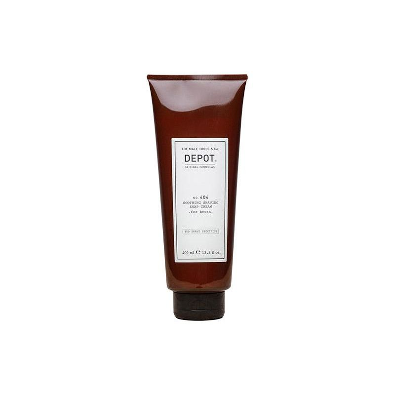 DEPOT No.404 SOOTHING SHAVING SOAP CREAM FOR BRUSH kojące mydło w kremie do golenia przy użyciu pędzla 400ml