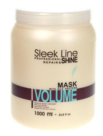 Stapiz sleek line maska z jedwabiem Volume 1000ml