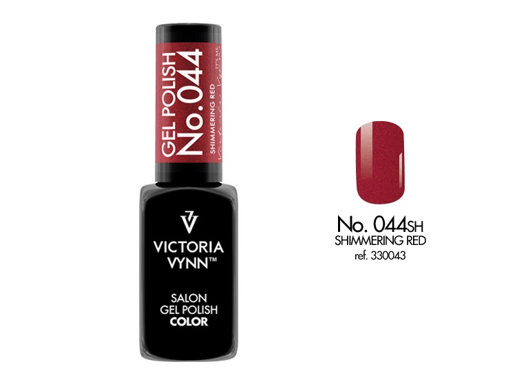 VICTORIA VYNN Gel Polish lakier hybrydowy 044 Shimmering Red 8ml