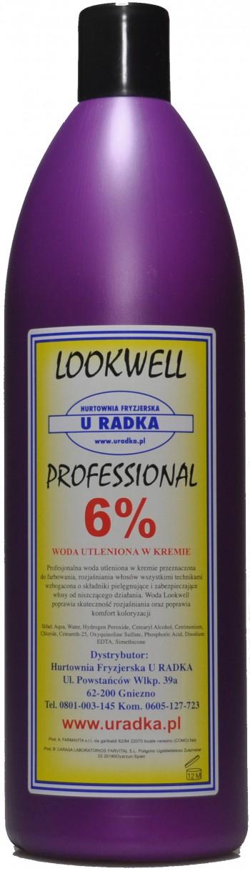 LOOKWELL LUX Woda utleniona wkremie OXY 6% 10vol 1000ml