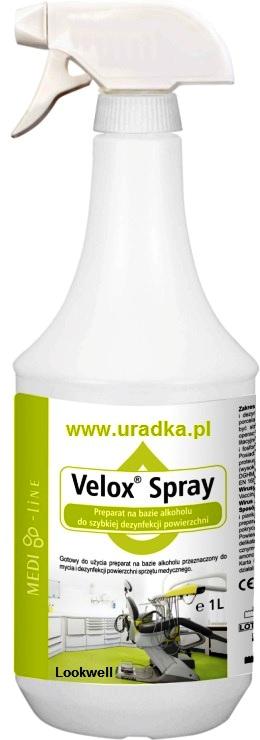 Velox spray preparat doszybkiej dezynfekcji powierzchni 1000ml + pompka gratis