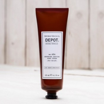 DEPOT NO.404 SOOTHING SHAVING SOAP CREAM FOR BRUSH kojące mydło w kremie do golenia, do nakładania pędzelkiem 125